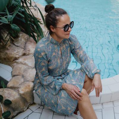 Eva Dew kleedje Milly blauw